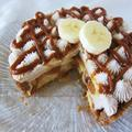 Класически бананов пай с карамелен топинг