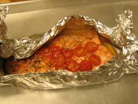 Ароматно филе от сьомга с домати чери