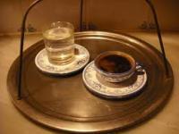 Турско кафе, сервирано според обичая