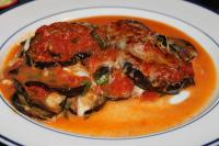 Патладжани в подлучен доматен сос и пармезан