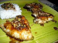 Пилешки горни бутчета с джинджифил и мед