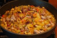 Зеленчуково рагу със свинско и тиква
