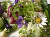 Празнична пролетна салата с цветя